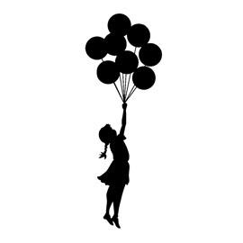 Banksy-Flying Balloon Girl Stencil   Free Stencil Gallery