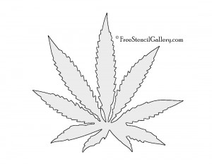 cannabis pot leaf stencil 300x232jpg