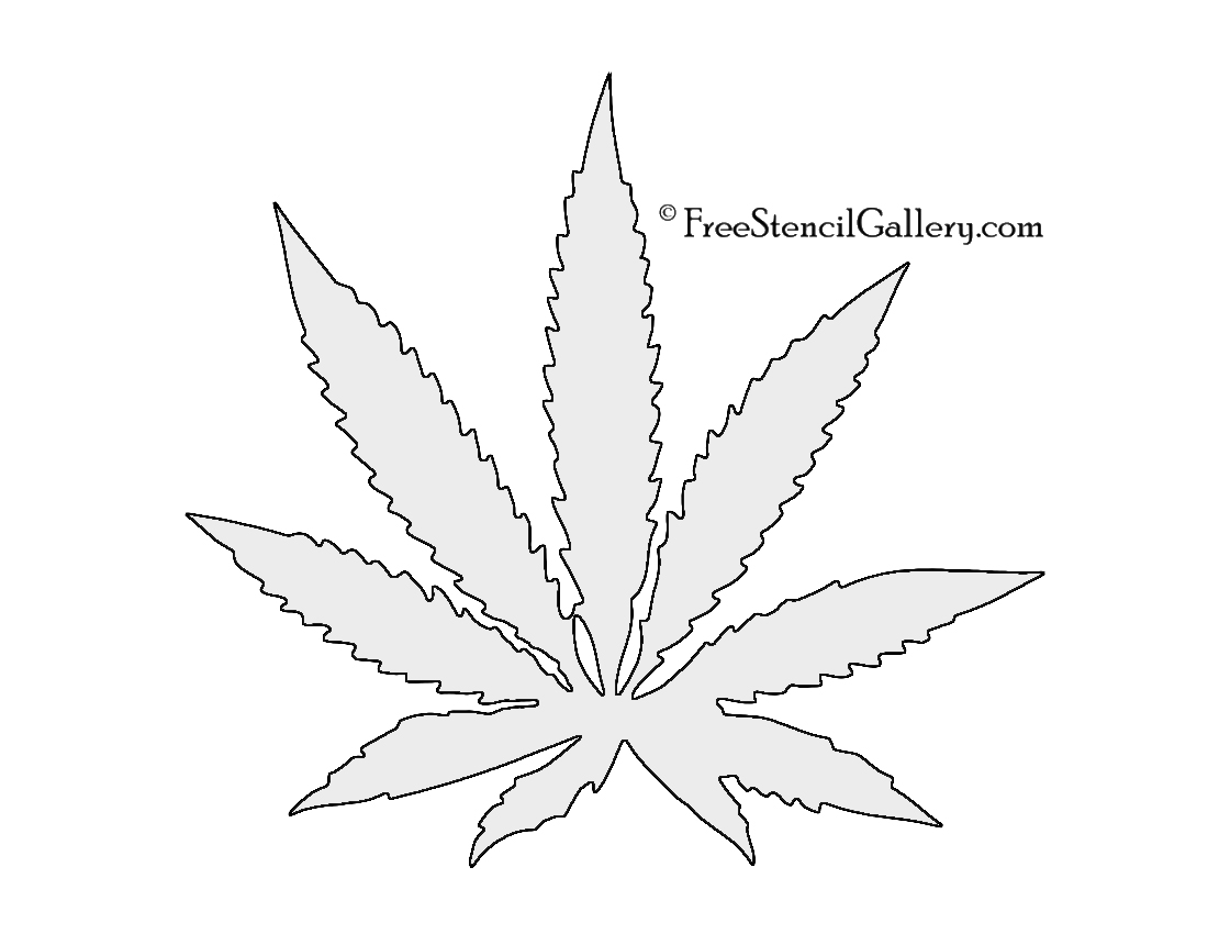Cannabis Pot Leaf Stencil