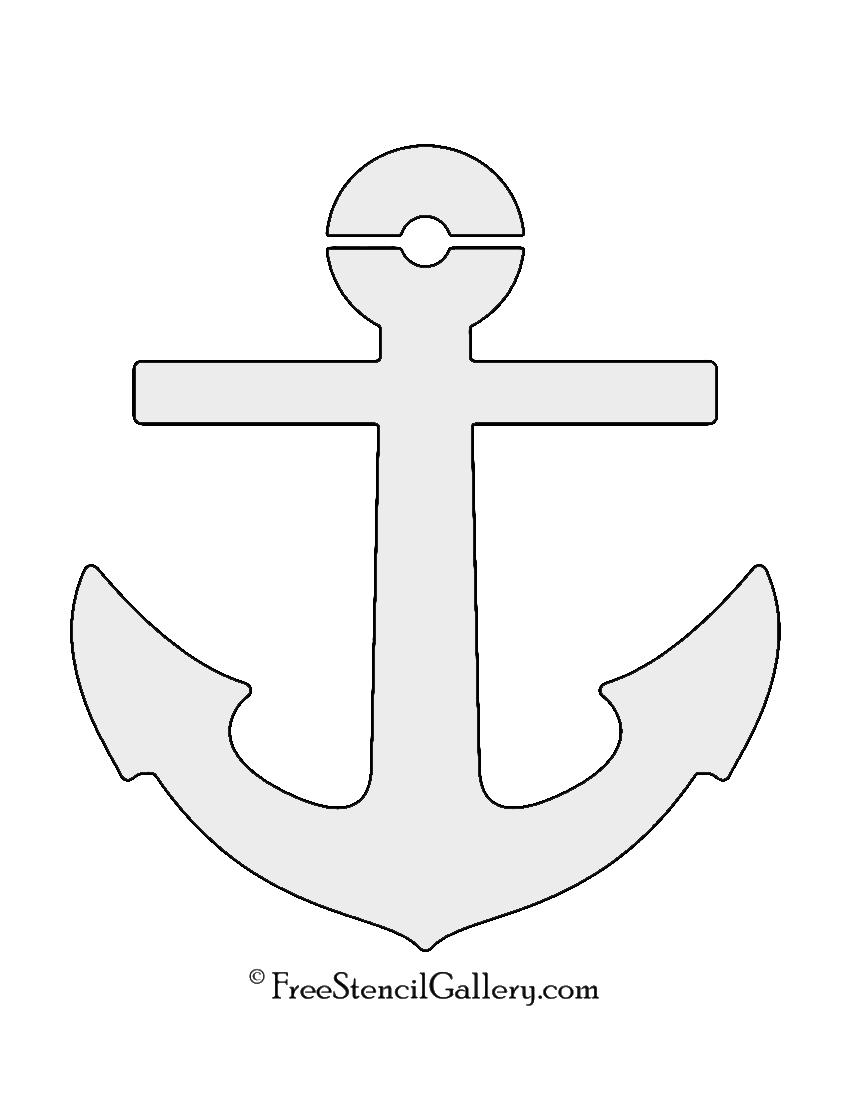 Boat Anchor Stencil