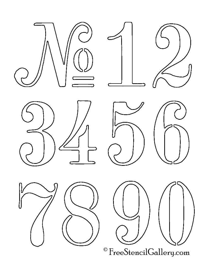 letter and number stencils for painting numbers stencil free stencil gallery 24227 | numbers stencil