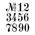 Numbers Stencil