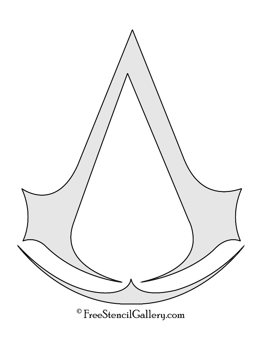 Assassins creed symbol stencil free stencil gallery assassins creed symbol stencil biocorpaavc