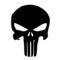 Punisher Skull Symbol Stencil