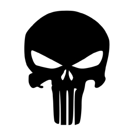 Punisher symbol punisher skull symbol stencil free stencil gallery