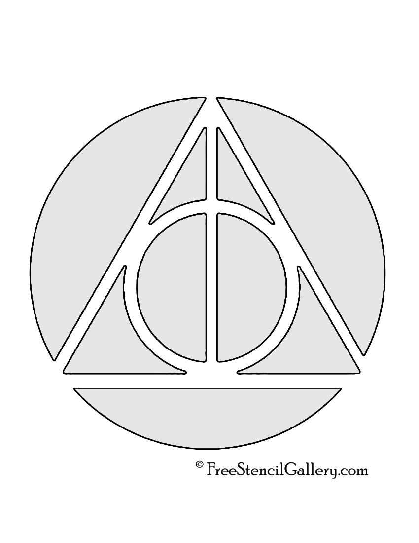 dollar sign stencil gallery part  harry potter deathly hallows symbol