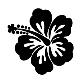Hibiscus Flower Stencil | Free Stencil Gallery