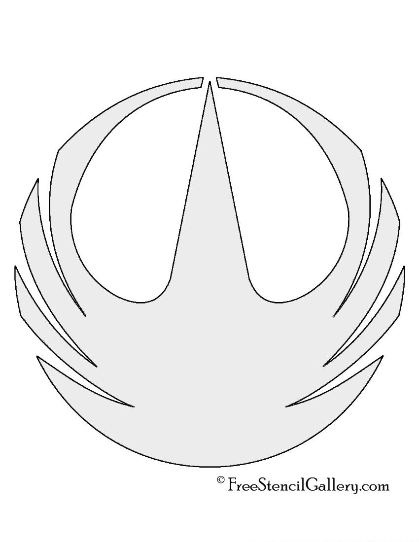 Star Wars Rogue One Symbol Stencil