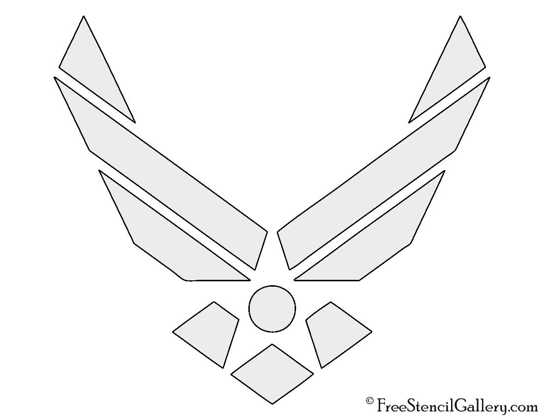 Air force logo stencil free stencil gallery air force logo stencil biocorpaavc