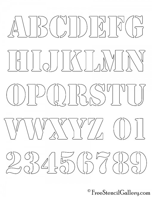 Alphabet Stencil Coloring Pages : Alphabet stencil free gallery