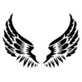 Angel Wings Stencil