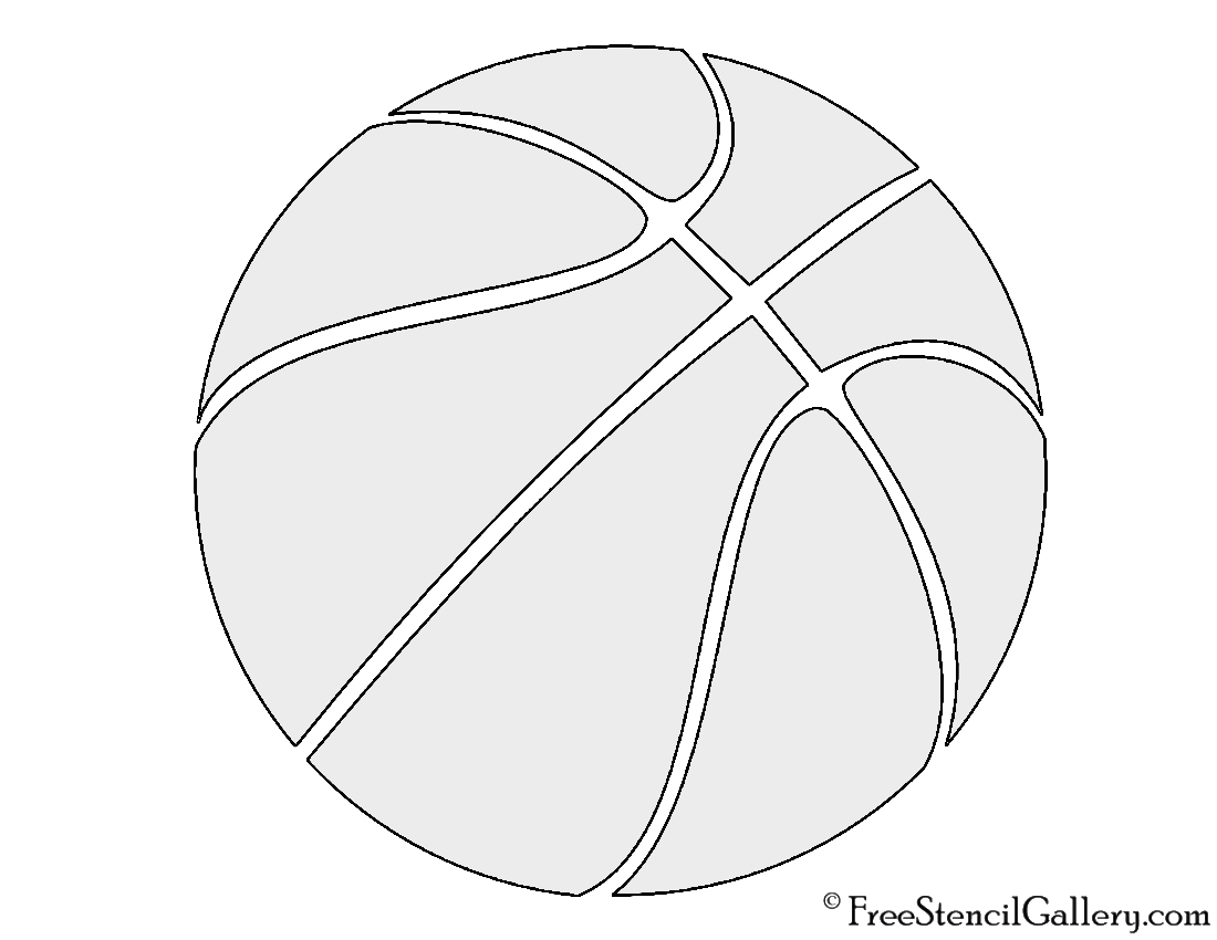 basketball stencil free stencil gallery