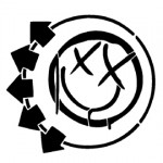 Blink-182 Smiley Logo Stencil