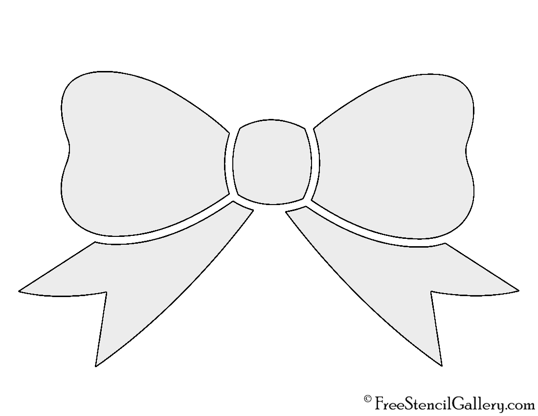Bow print template bing images for Template of a bow