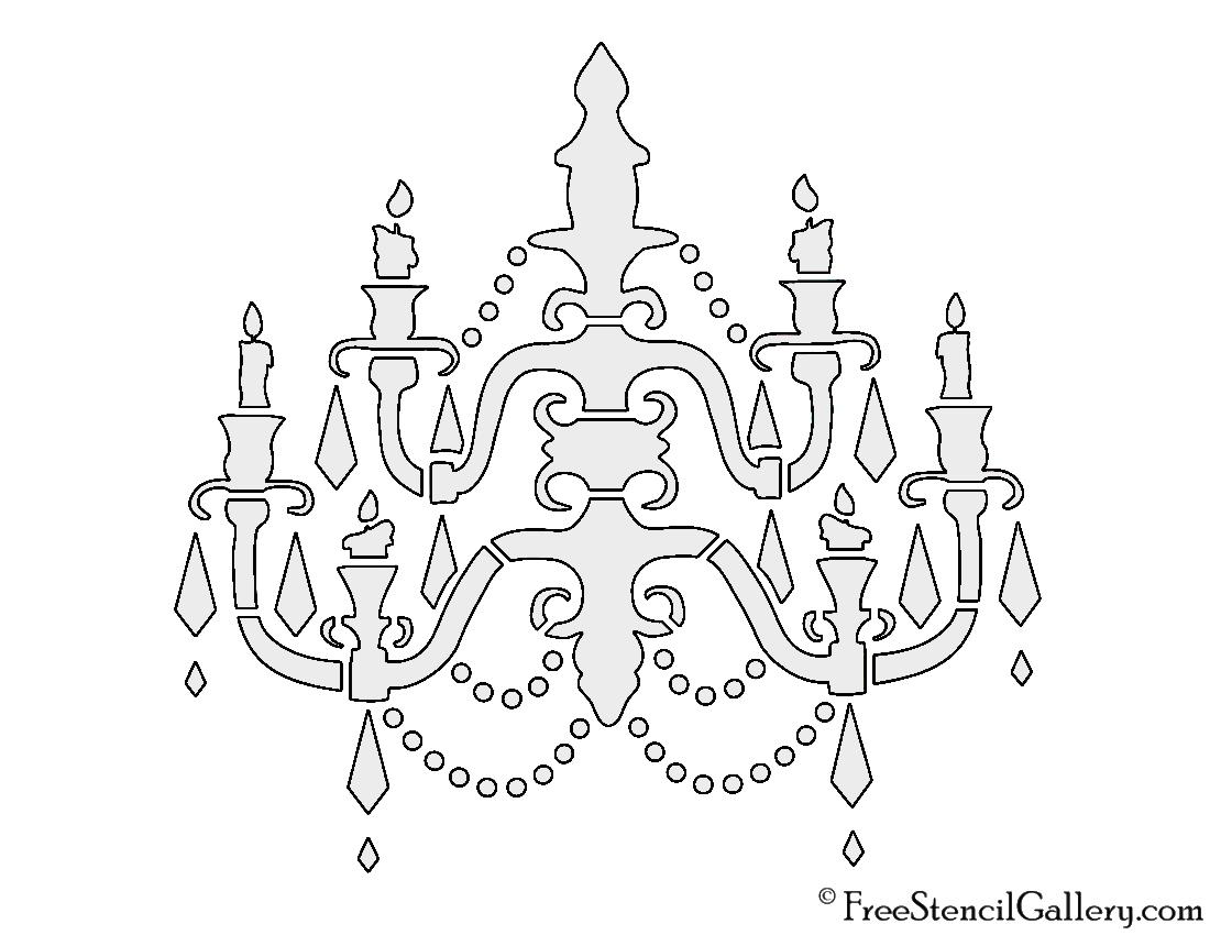 Chandelier stencil free stencil gallery chandelier stencil mozeypictures Images