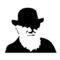 Charles Darwin Stencil