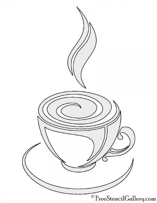 Coffee 02 Stencil