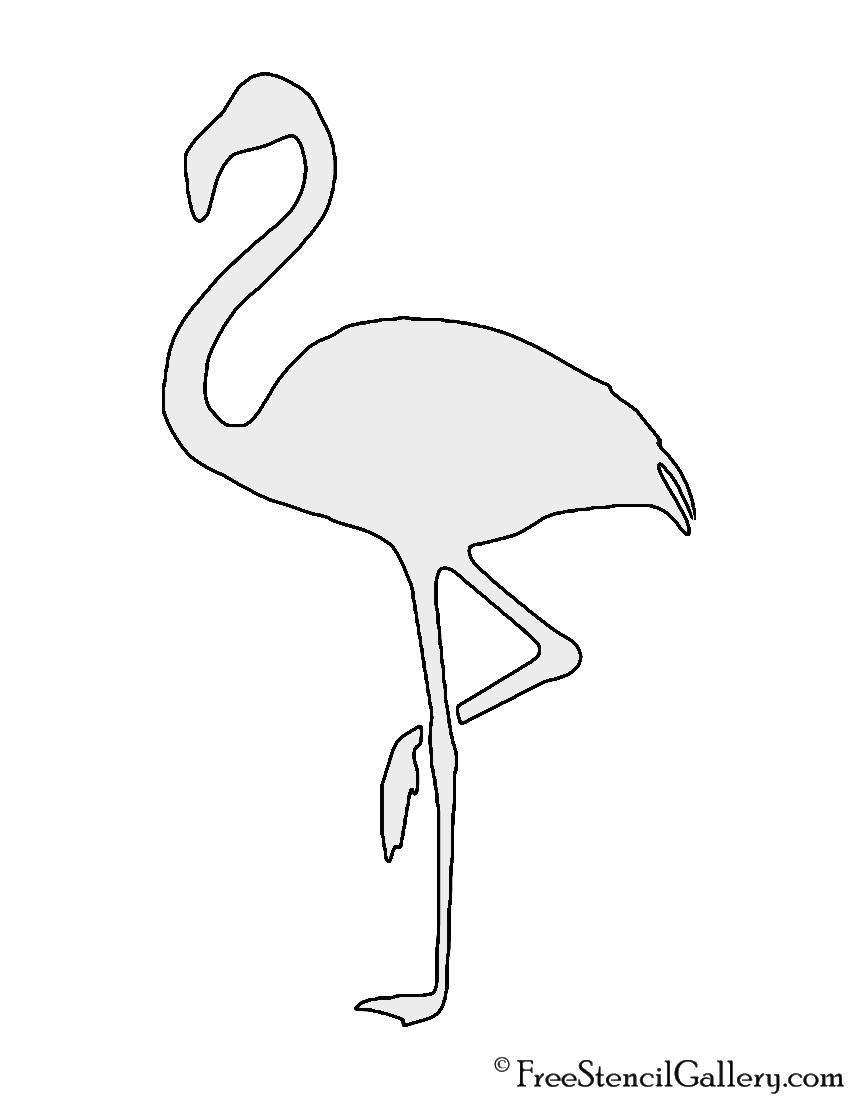 Flamingo silhouette stencil free stencil gallery flamingo silhouette stencil pronofoot35fo Images