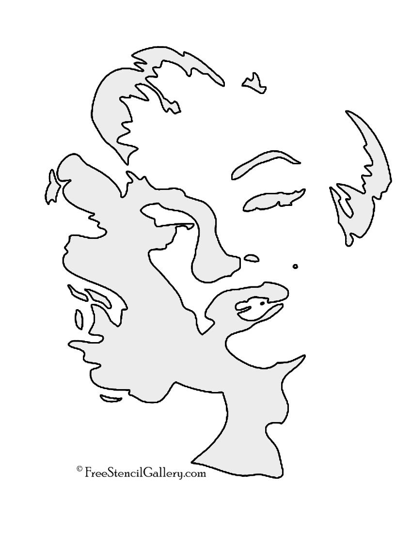Marilyn Monroe 02 Stencil Free Stencil Gallery