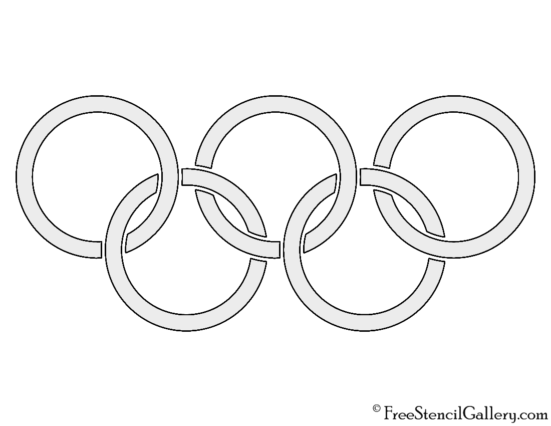 olympics symbol coloring pages - photo#10