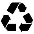 Recycle Symbol Stencil