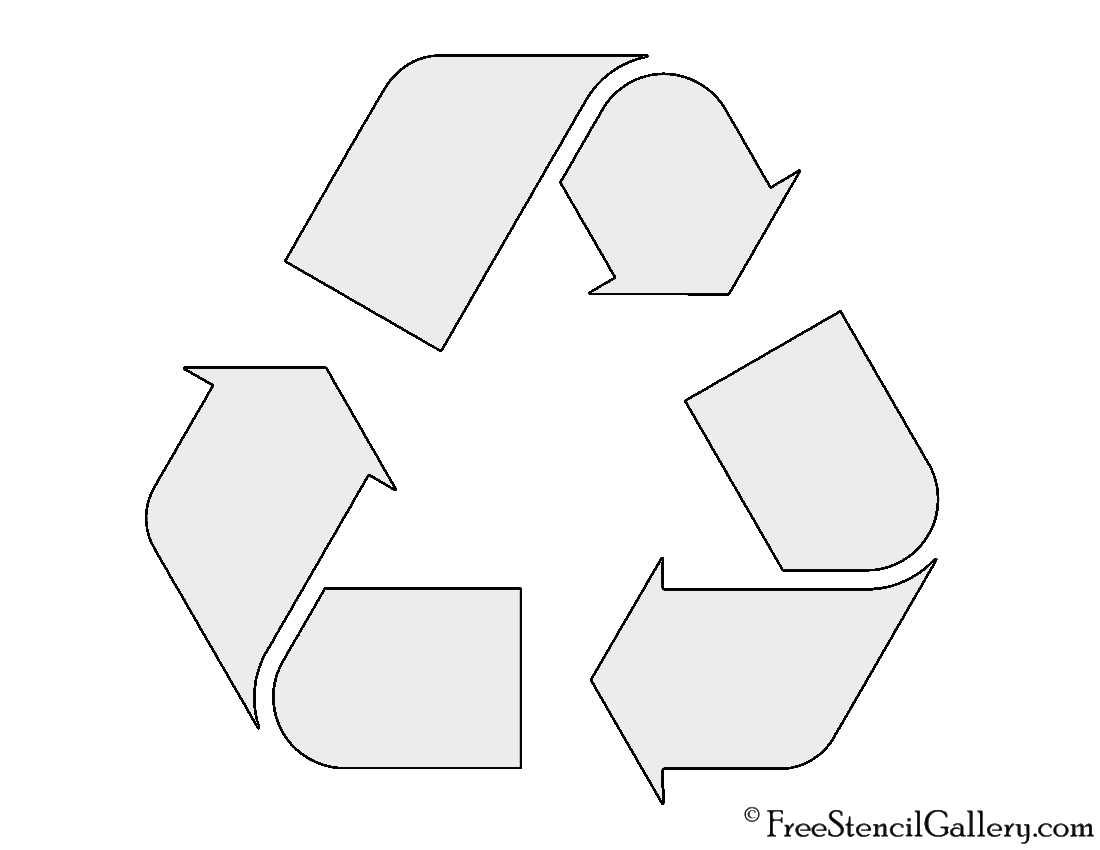 Recycle symbol stencil free stencil gallery recycle symbol stencil buycottarizona Choice Image