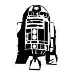 Star Wars R2-D2 stencil