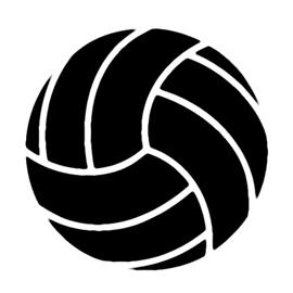Volleyball Stencil   Free Stencil Gallery