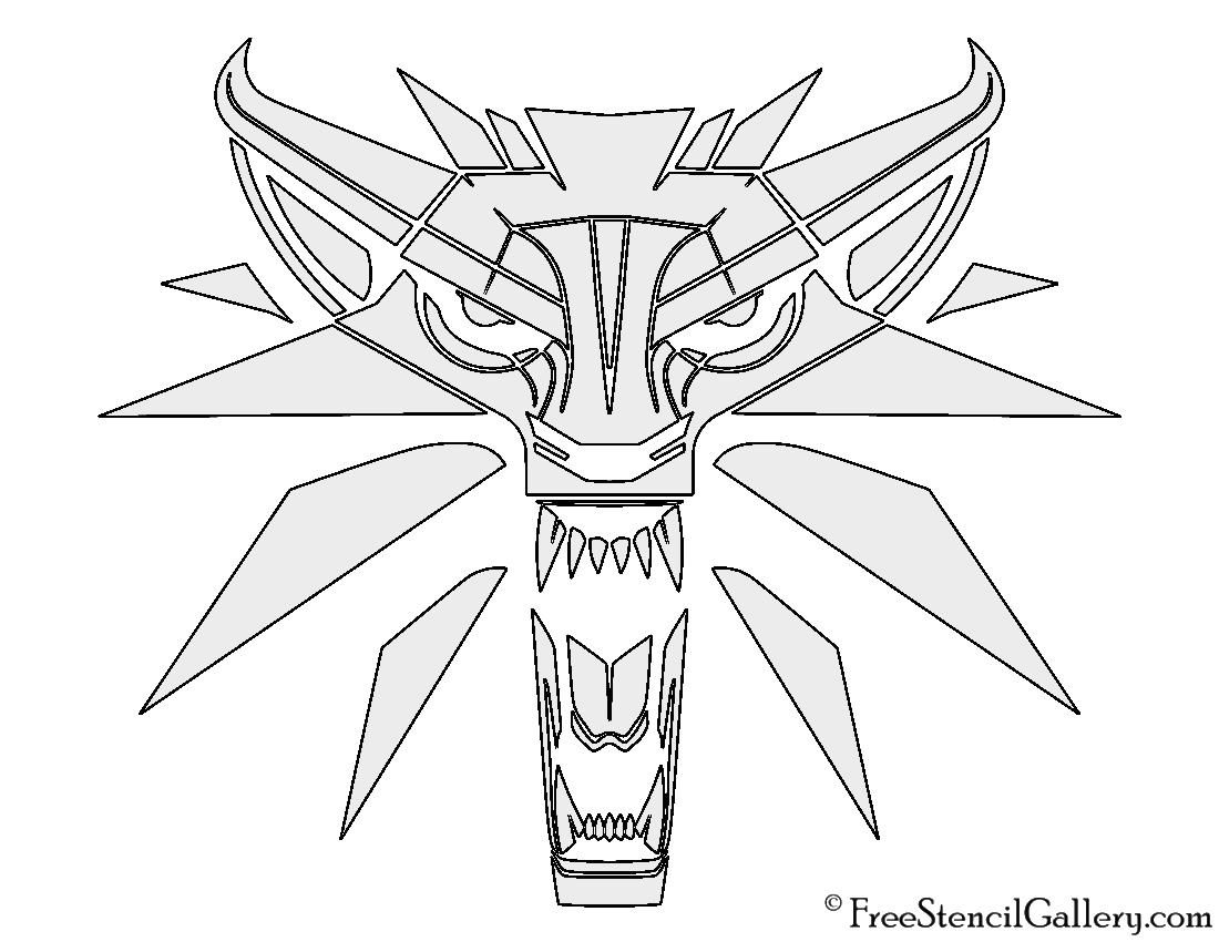 Witcher wolf logo stencil free stencil gallery witcher wolf logo stencil pronofoot35fo Choice Image