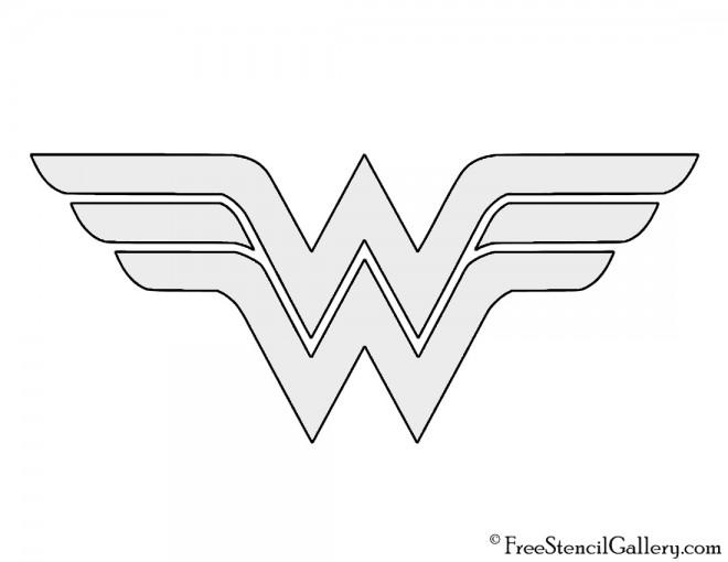 Wonder Woman Symbol Stencil