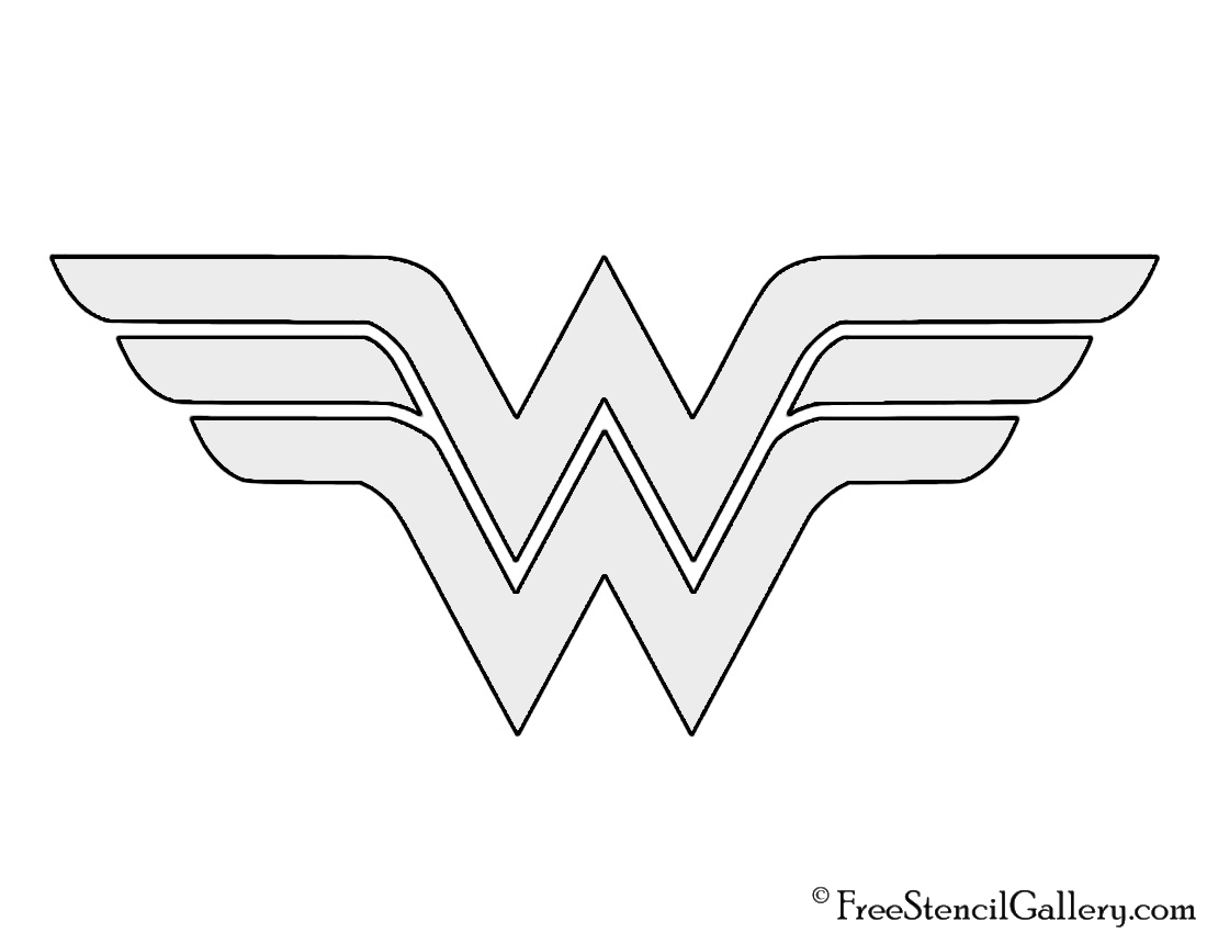 wonder woman logo stencil images galleries with a bite. Black Bedroom Furniture Sets. Home Design Ideas