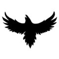 Crow Silhouette Stencil
