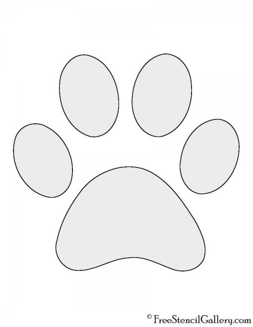 Dog Paw Print Stencil
