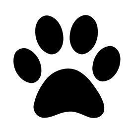 Magic image in dog paw print stencil printable free