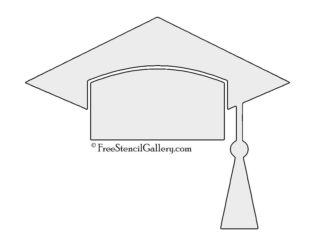 Graduation Cap Stencil | Free Stencil Gallery