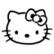 Hello Kitty Stencil