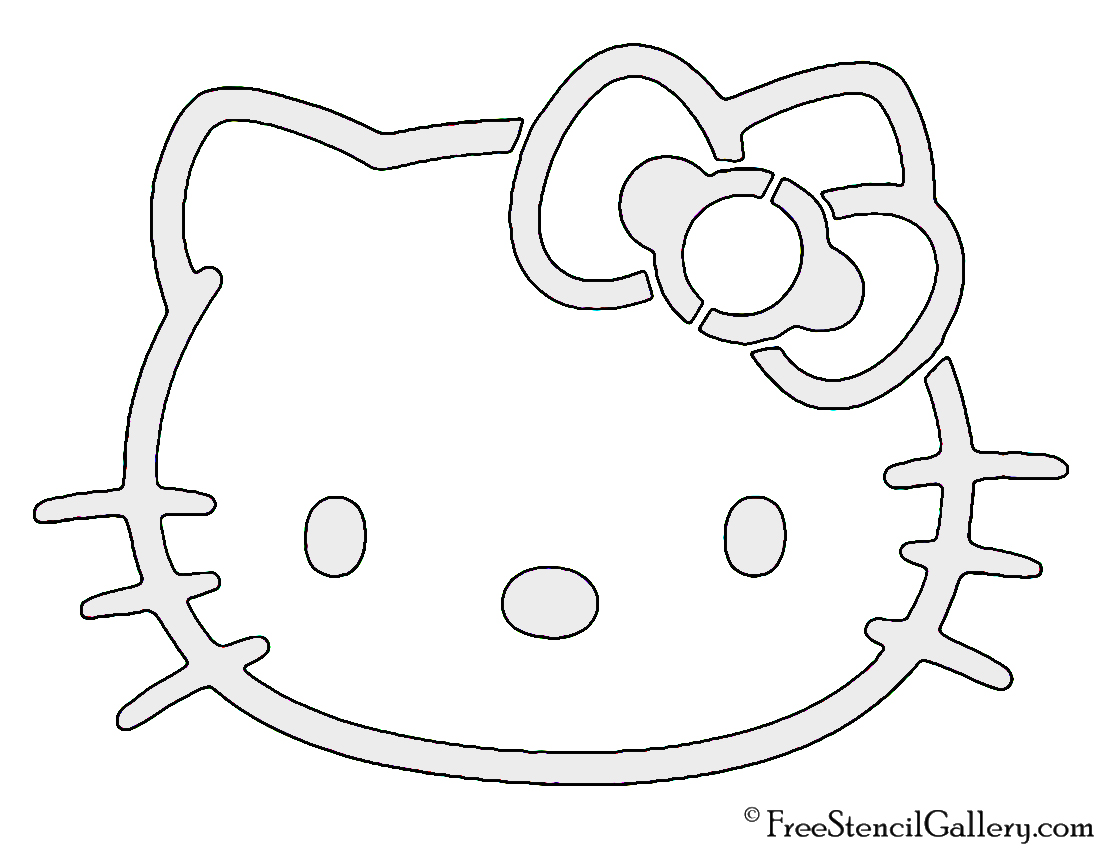 Hello kitty stencil free stencil gallery for Hello kitty cut out template