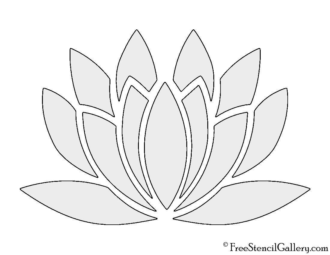 Lotus flower stencil free stencil gallery lotus flower stencil mightylinksfo