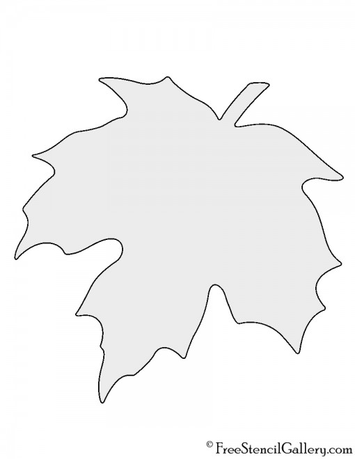 Maple Leaf Stencil