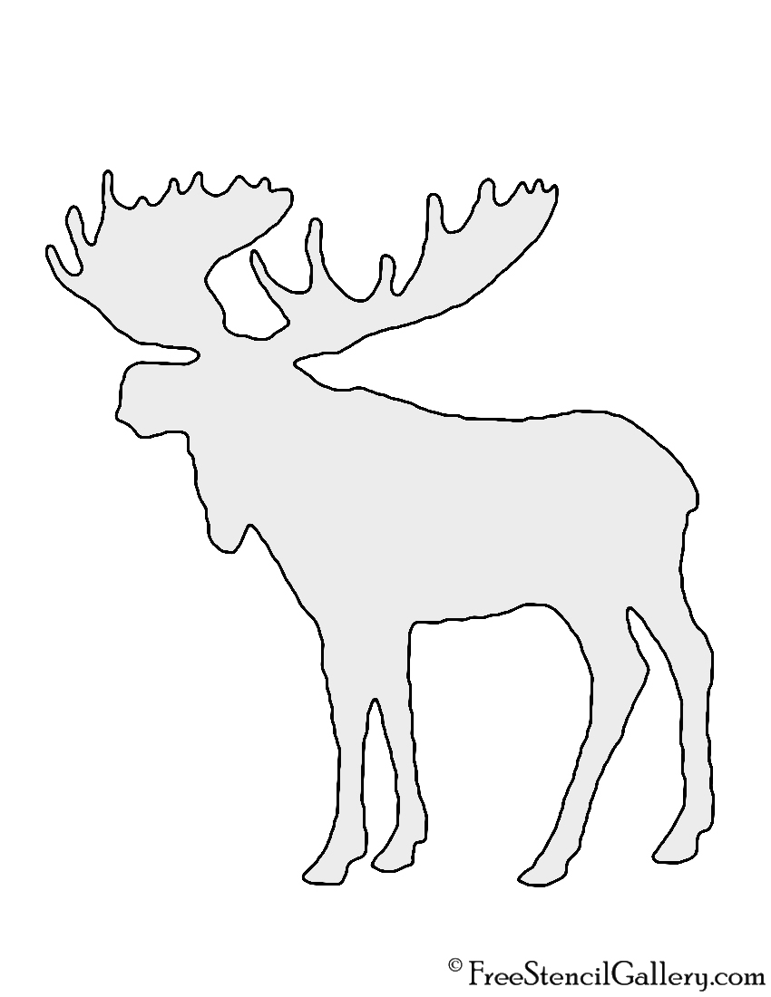 Fan image with regard to moose template printable
