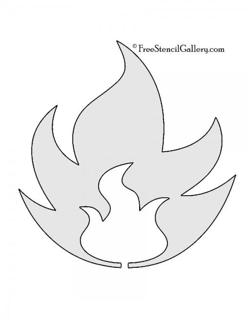 Pokemon - Fire Type Symbol Stencil