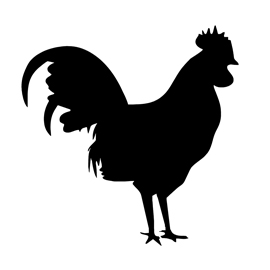 Rooster Silhouette Stencil | Free Stencil Gallery