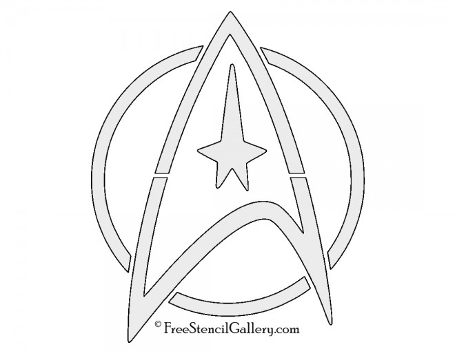 Star Trek - Command Insignia Stencil