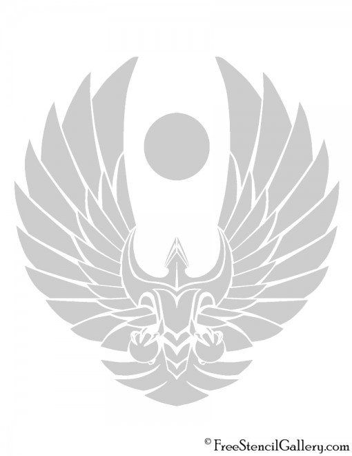 Star Trek - Romulan Republic Insignia Stencil