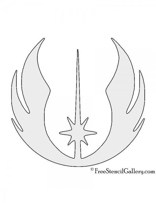 Star Wars - Jedi Order Symbol Stencil | Free Stencil Gallery