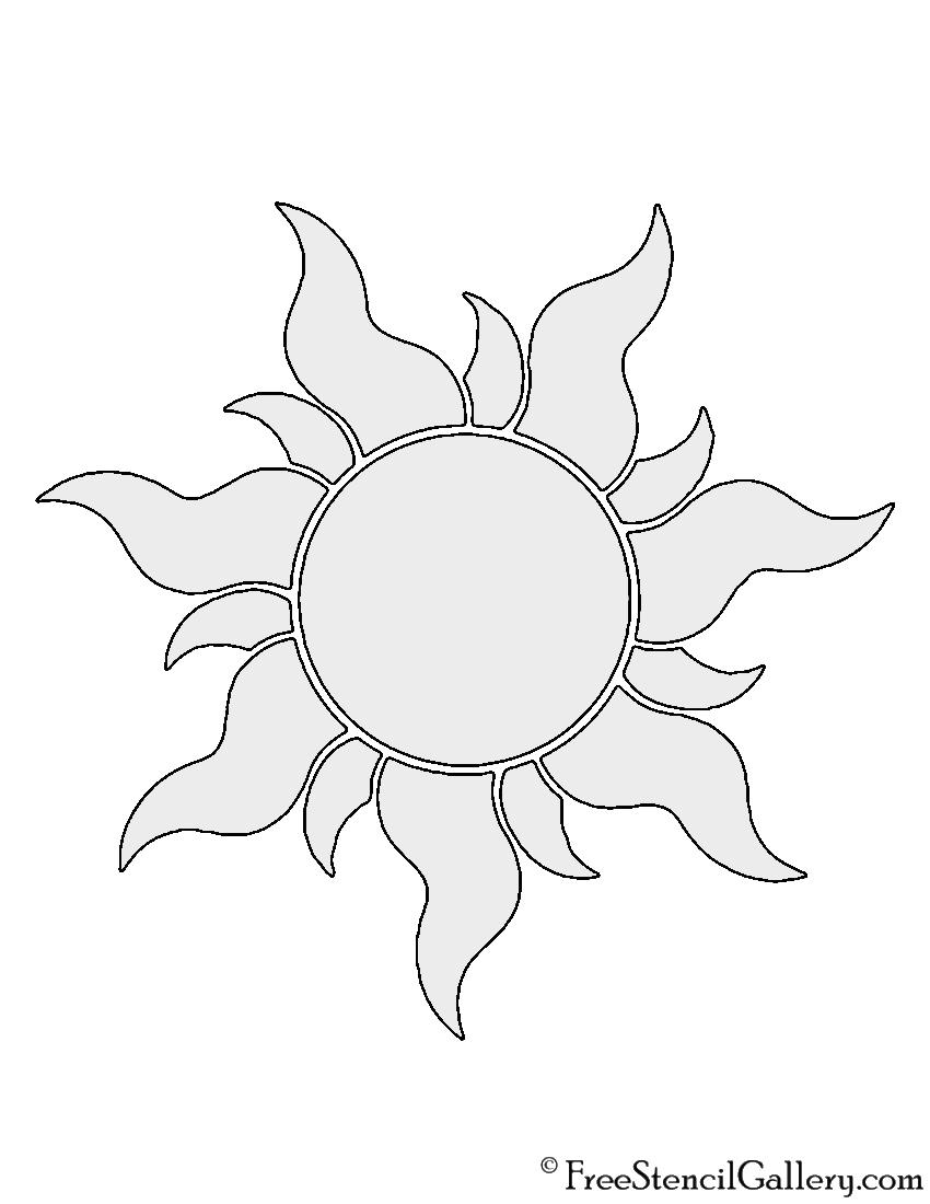Tangled Sun Stencil Free Stencil Gallery