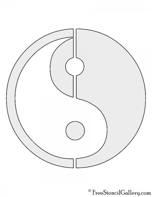 Yin Yang Symbol Stencil