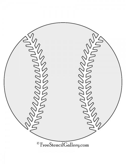 Baseball Stencil