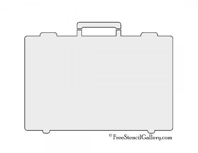Briefcase Stencil