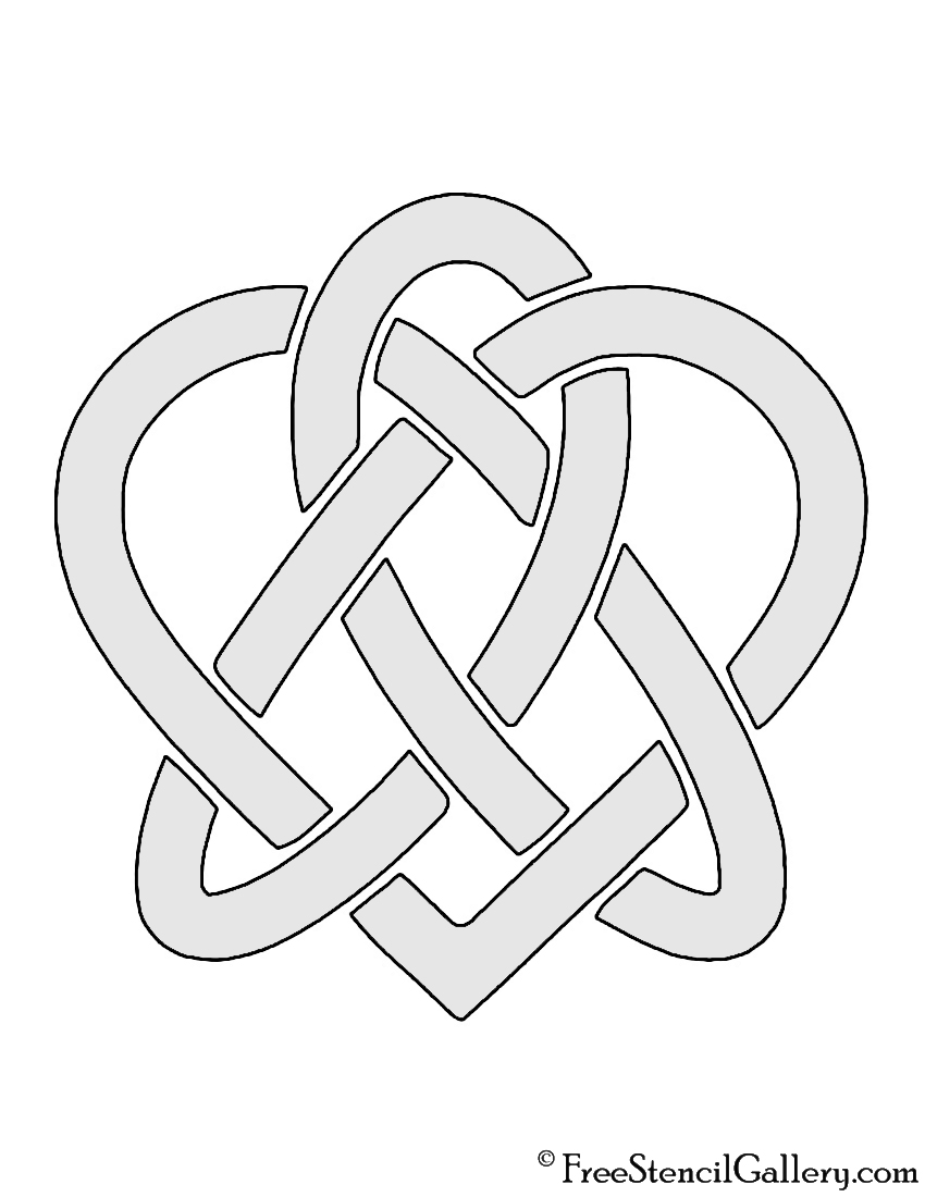 Celtic Knot - Heart Stencil | Free Stencil Gallery